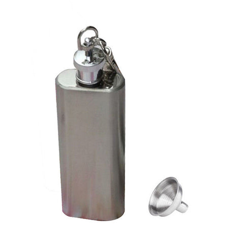 Image of Stainless Steel Hip Flask Different Sizes Available. - giftsgadgetsandgizmos.com