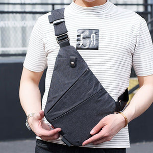 Casual Canvas Chest Bag