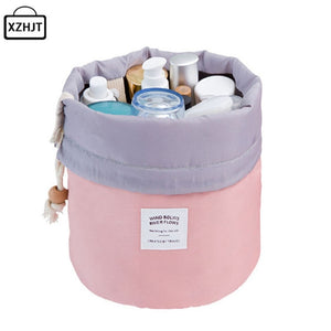 Barrel Shaped Travel Cosmetic Bag - giftsgadgetsandgizmos.com
