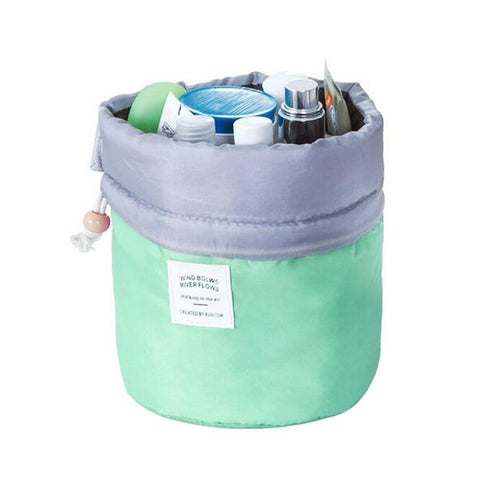 Image of Barrel Shaped Travel Cosmetic Bag - giftsgadgetsandgizmos.com