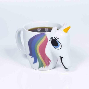 3D Color Changing Temperature Unicorn Ceramic Mug