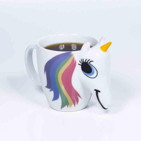 3D Color Changing Temperature Unicorn Ceramic Mug - giftsgadgetsandgizmos.com
