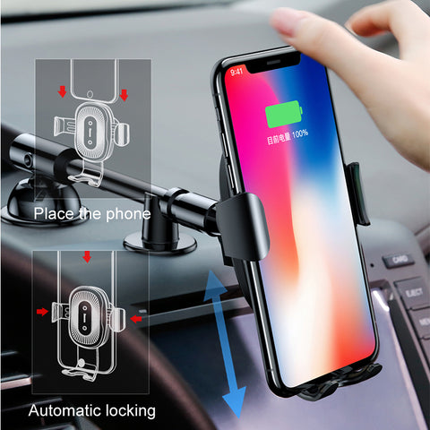 QI Wireless Charger And Car Mount - giftsgadgetsandgizmos.com