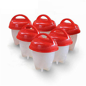 6Pcs/Set Silicone Egglettes Egg Cooker