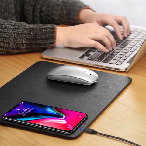 Wireless Charging Mouse pad - giftsgadgetsandgizmos.com