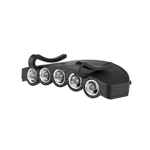 Clip-On 5 LED Headlamp - giftsgadgetsandgizmos.com