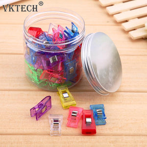 50 Pcs /Set Multi-Color Quilting/Sewing Clips Large - giftsgadgetsandgizmos.com