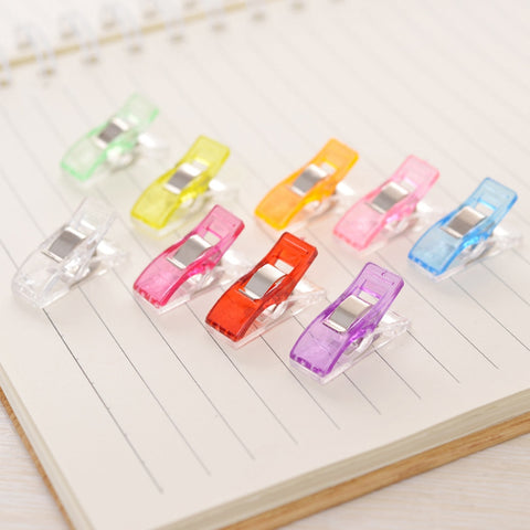 100 Pcs /Set Multi-Color Quilting/Sewing Clips Medium - giftsgadgetsandgizmos.com