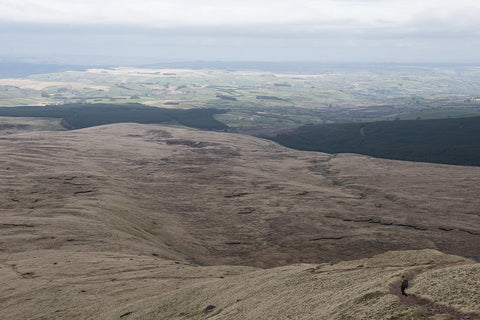 Looking down from the Black Mountain, Brecon