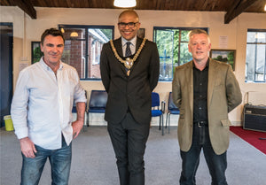 Cardiff Mayor Daniel De'ath opens Kevin Williams art exhibition
