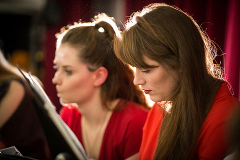 Female singer in a Cardiff University Choral group