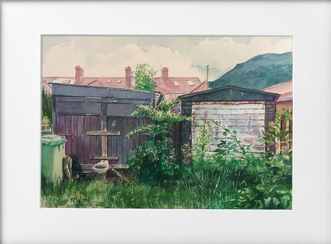 Mounted Print - (Unframed) - Back Lane, Taffs Well