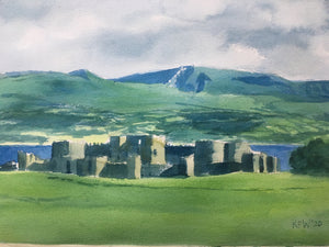 Welsh Castles - Beaumaris - Watercolour on paper