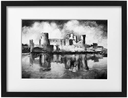 Signed Print - Framed - Caerphilly Castle