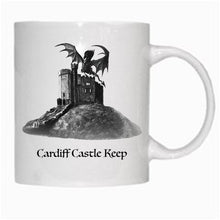 Load image into Gallery viewer, Gift - Mug - Cardiff Castle Keep with dragon