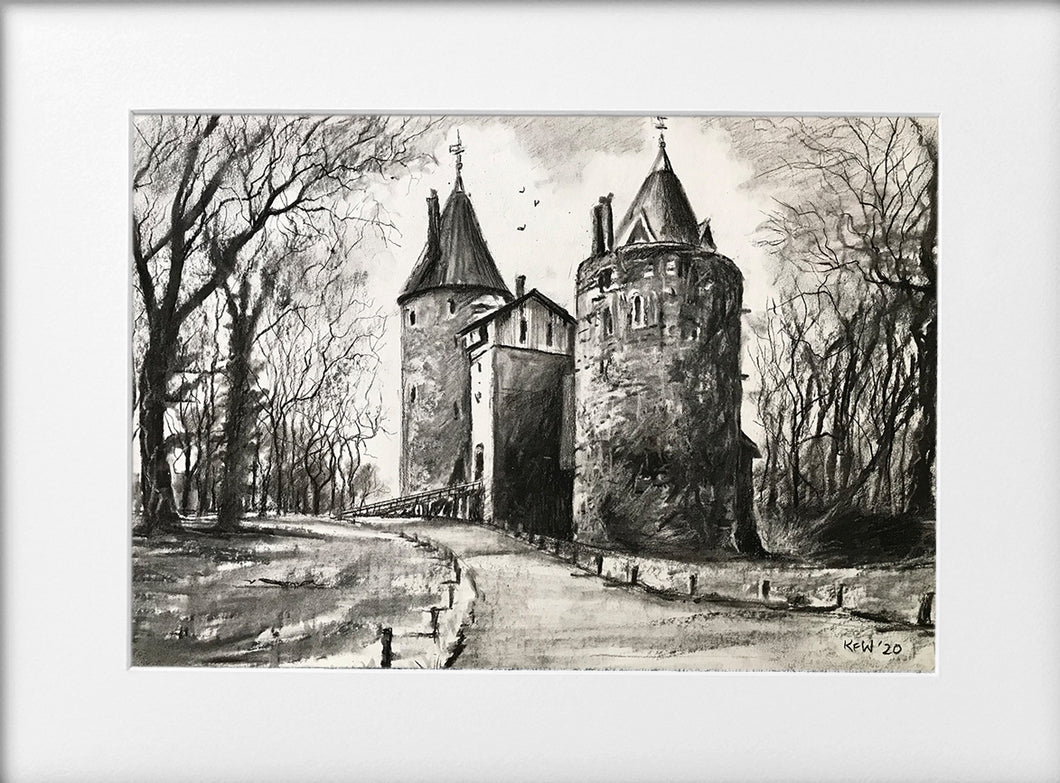 Mounted Print - (Unframed) - Castell Coch Gothic