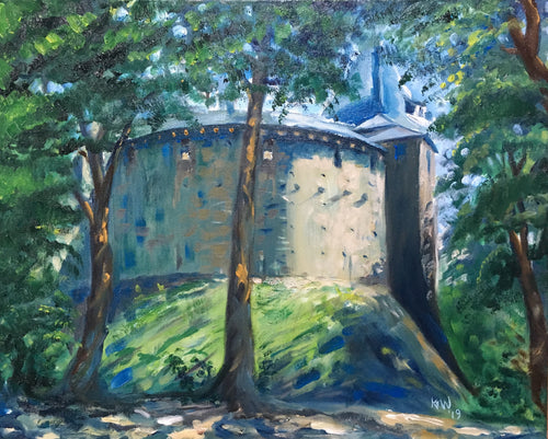 Oil on canvas painting of Castell Coch in Fforest Fawr, Tongwynlais