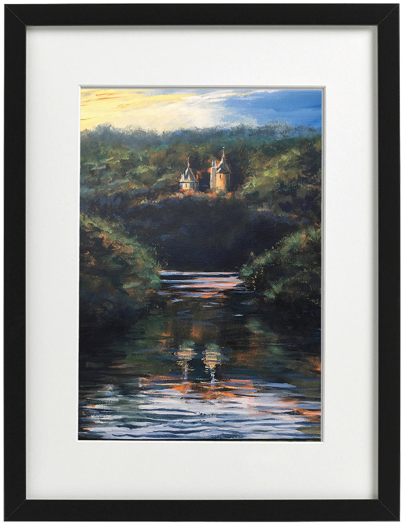 Signed Print - Framed - Castell Coch and the Taff