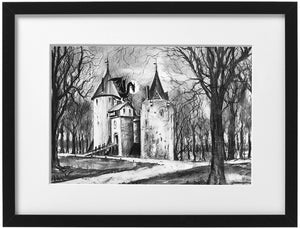 Signed Print - Framed - Castell Coch with dragon