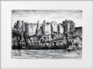 Mounted Print - (Unframed) - Chepstow Castle