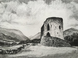 Dolbadarn Castle - Charcoal