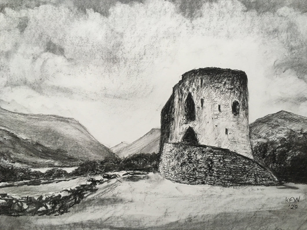 Welsh Castles - Dolbadarn - Charcoal