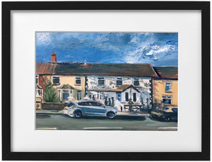 Signed Print - Framed - 'Fagins pub Taffs Well'