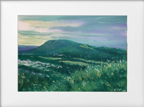 Mounted Print - (Unframed) - The Garth, spring evening