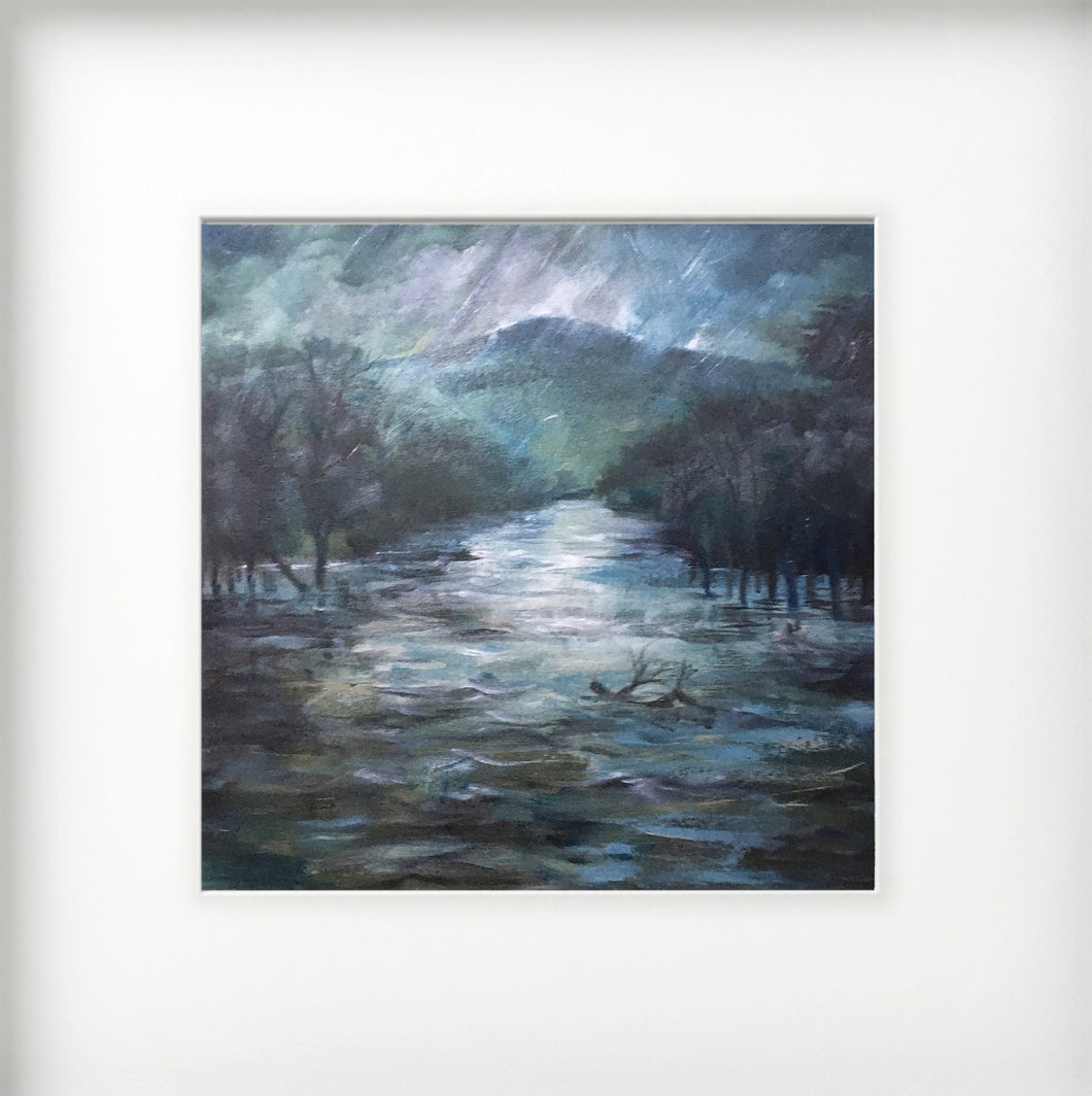 Mounted Print - (Unframed) - In the eye of Storm Dennis