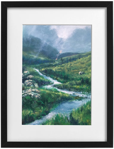 Signed Print - Framed - The source of the Taff