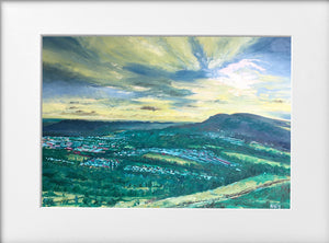 Mounted Print - (Unframed) - Sunset over the Garth