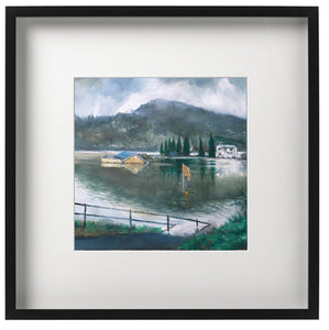 Signed Print - Framed - Taffs Well Park and Storm Dennis