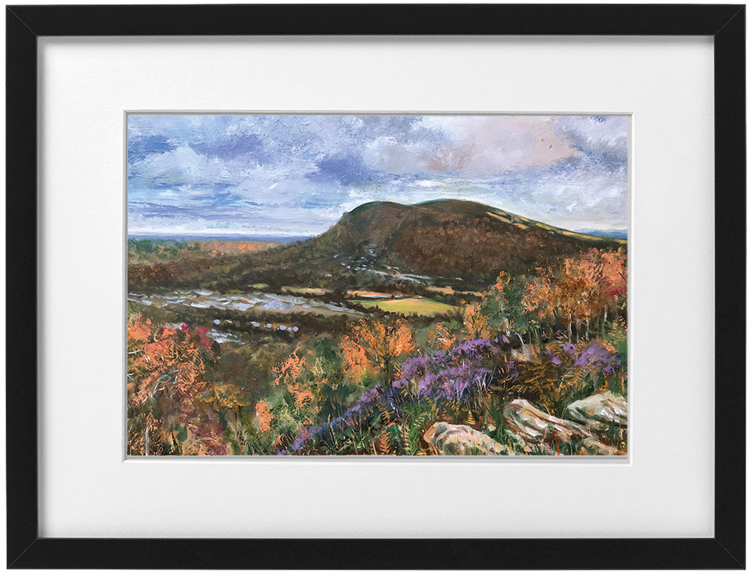 Signed Print - Framed - The Garth from Graig Yr Alt