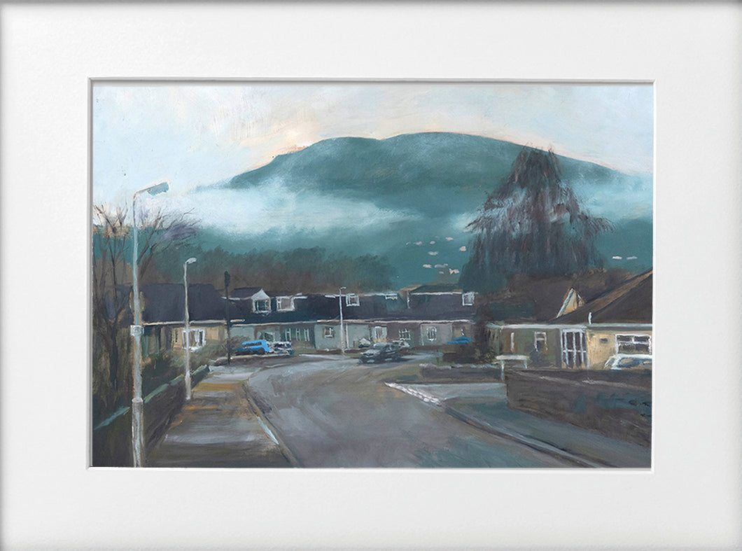 Mounted Print - (Unframed) - The Garth from Brynau Road