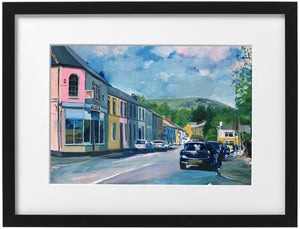 Signed Print - Framed - The Spa and the Garth, Tongwynlais