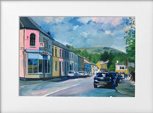 Mounted Print - (Unframed) - The Spa and the Garth Tongwynlais