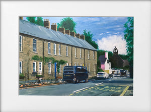 Mounted Print - (Unframed) - Tongwynlais Village Terrace