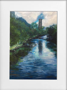Mounted Print - (Unframed) - Viaduct totem on the Taff