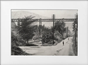 Mounted Print - (Unframed) - The Walnut Tree Viaduct