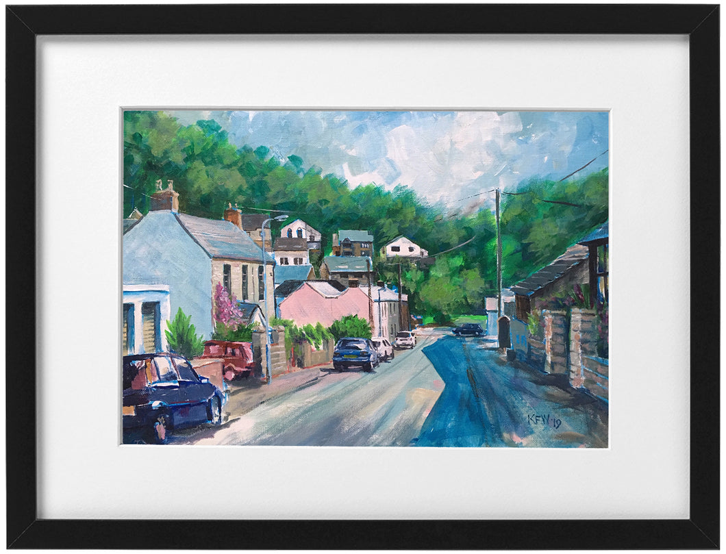 Signed Print - Framed -  Wellington Street, Tongwynlais