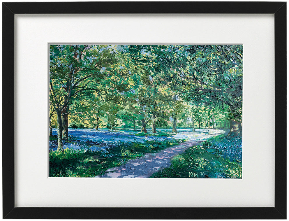 Signed Print - Framed - Sprint clearing in Forest Fawr