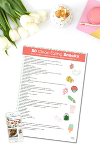 50 Clean Eating Snack Ideas