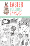 Easter Coloring Book {17 PAGES}