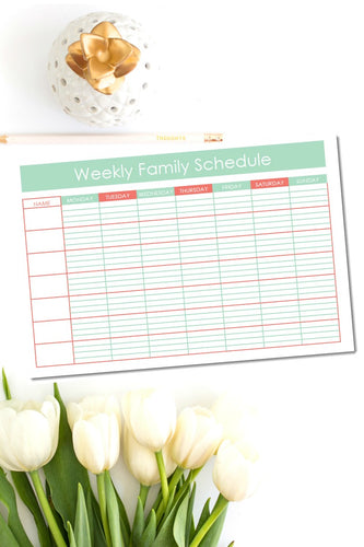 Weekly Family Schedule