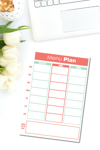 {ONE PAGE} Meal planner
