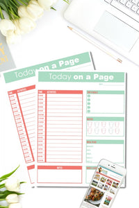 Today on a Page {One Page} Planner
