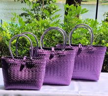 Load image into Gallery viewer, Purple Penan Handwoven Tote Bag