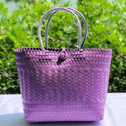 Purple Penan Handwoven Tote Bag