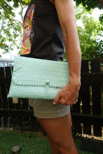 Load image into Gallery viewer, Light Blue Penan Clutch Bag