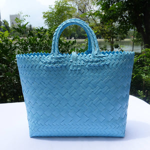 Sky Blue Double Handle Penan Tote Bag